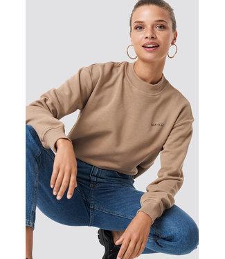 NA-KD Logo sweater 1044-000118 - beige