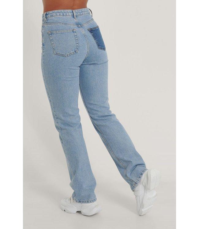 Contrast Pocket HW denim -  Light Blue