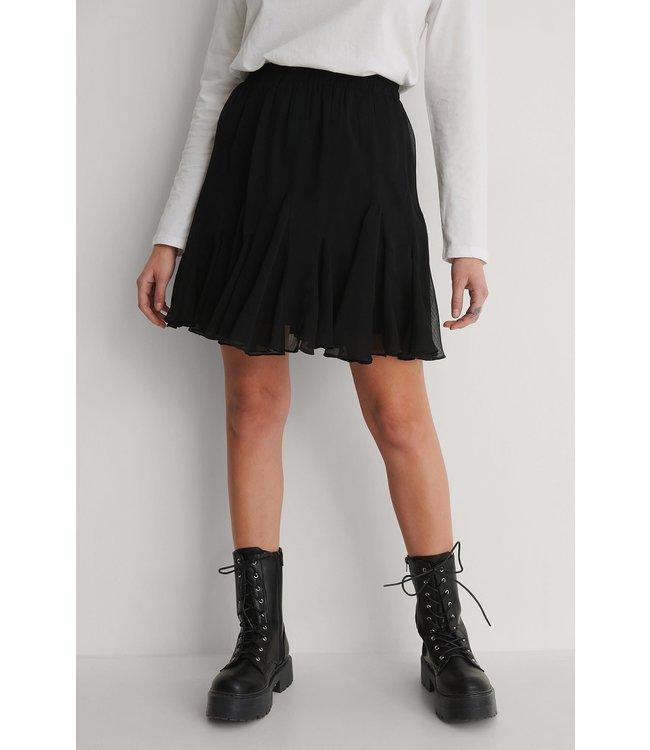 Flowy mini skirt 003921 - black