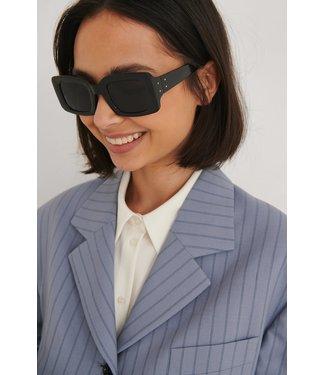 NA-KD Squared sunglasses 003411 - black