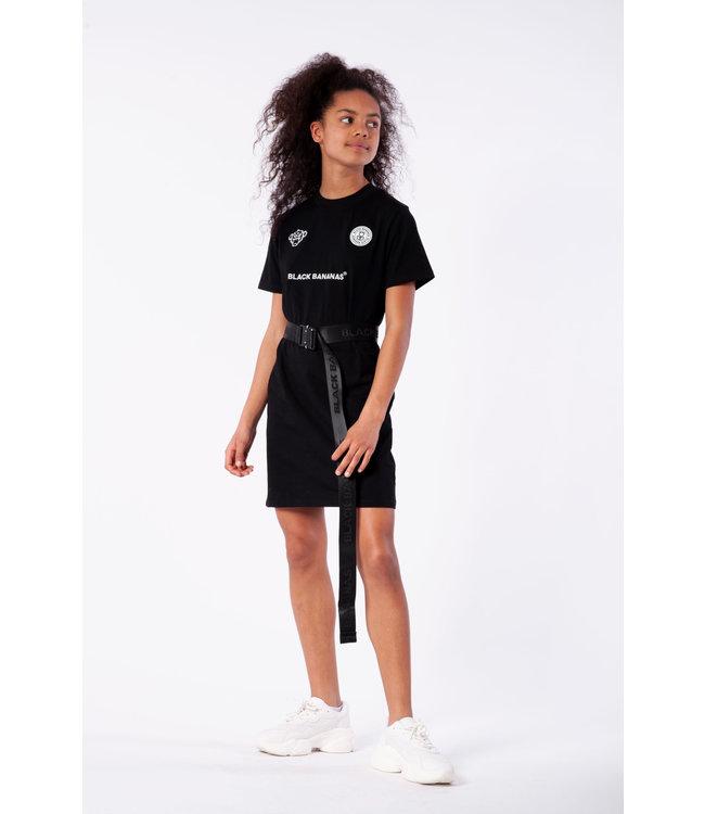 Girls Dress Tee JRSS21/029 - Black