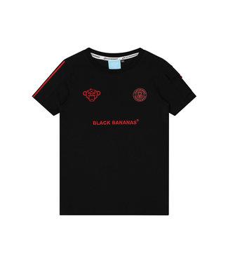 BLACK BANANAS Unity Tee JRSS21/020 - Black/red