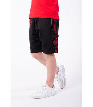 BLACK BANANAS Unity Short JRSS21/021 - Black/Red