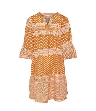 KIDS ONLY KONALBERTE Aztec dress 15209378 marmalade