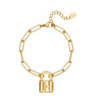 Armband Cute Lock - goud