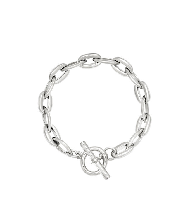 Armband Groovy - zilver