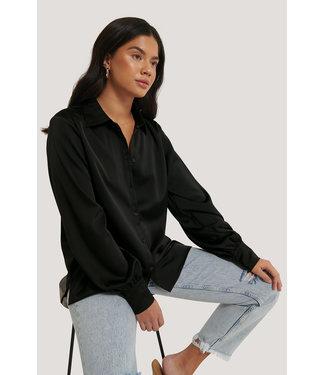 NA-KD Flowy shirt 1018-004194 | black