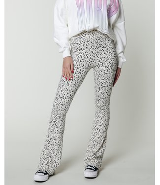 Colourful Rebel 10184 - Leopard Basic Flare Pants Sand