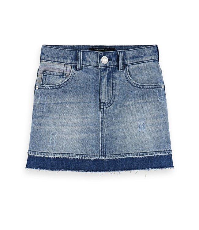 150868 Denim Mini skirt - Hidden Rainbows