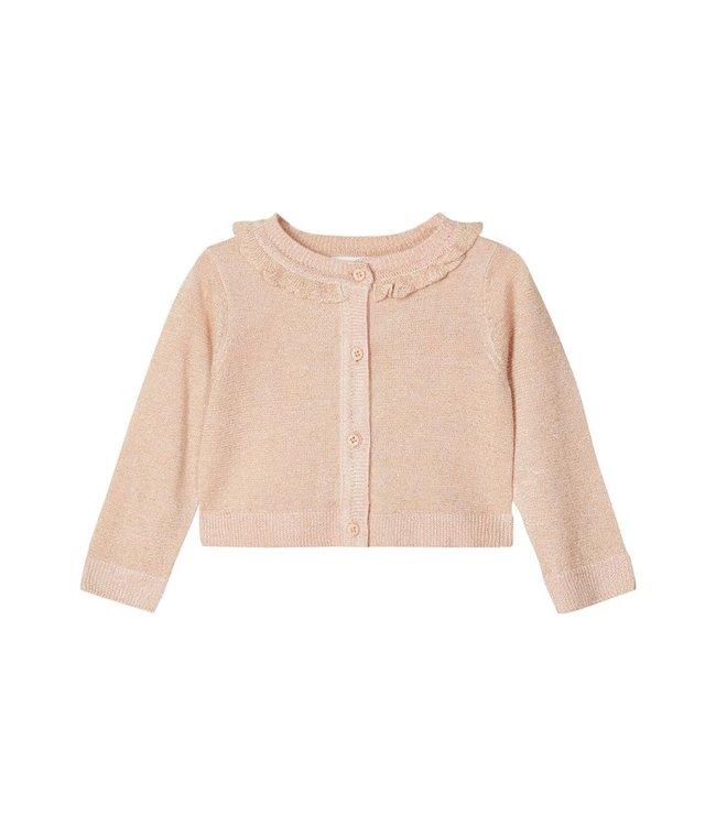 NBFTAMILLE Knit Cardigan 13185671 - Peach Whip