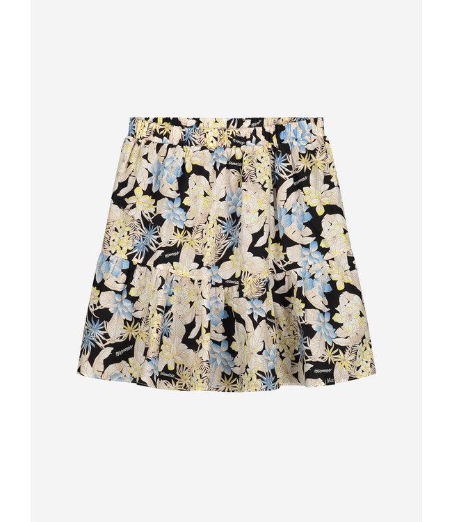 Zimra Flower Skirt 3710 - Black