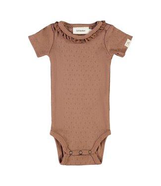 Lil Atelier NBFSAFRAN Body s/s 13192085 - brown