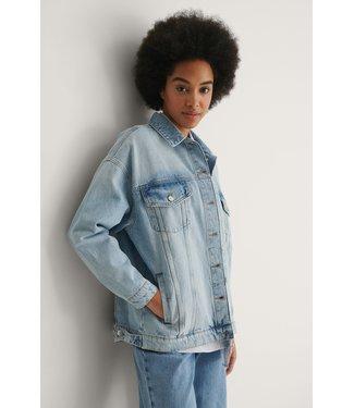 NA-KD Oversized denim jacket 004556