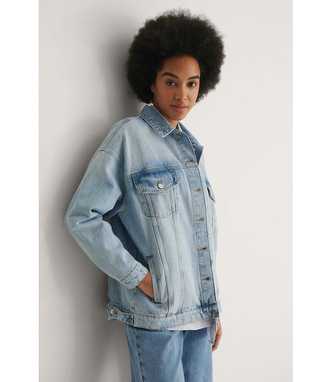 Oversized denim jacket 004556