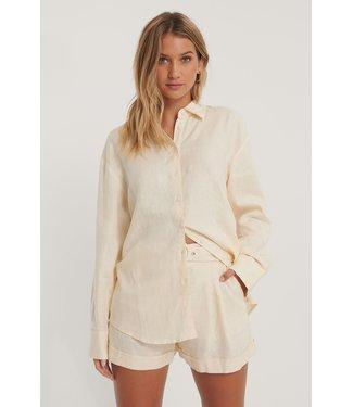 NA-KD Oversized linen shirt 006845
