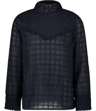 FLO Woven blouse F008-5110 navy
