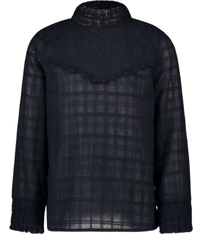 Woven blouse F008-5110 navy
