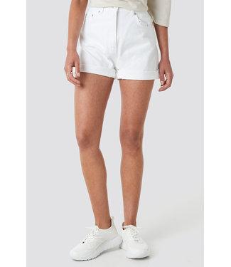 NA-KD Mom denim shorts 007543 - white