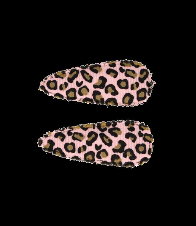 Baby haarspeldjes met leopard print pink 10HS151407