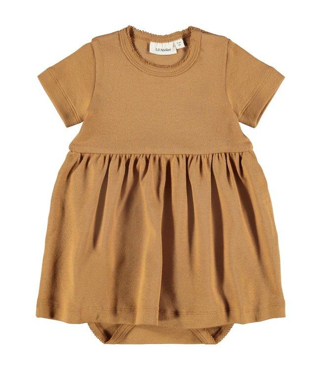 NBFGAYA Dress s/s 13194998 - Tabacco