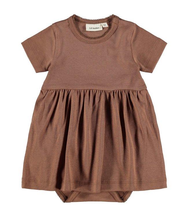 NBFGAYA Dress s/s 13194998 - Carob