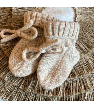 Petite Noe Merino wol booties - sand