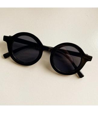 Zonnebril rond - all black