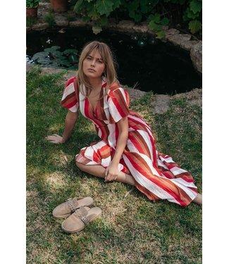 Colourful Rebel 10284  Ava Stripe Maxi Dress