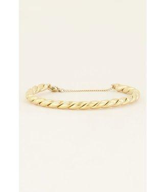 My Jewellery Grove gedraaide bangle MJ04085-1200 GOLD