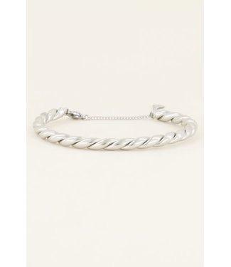 My Jewellery Grove gedraaide bangle MJ04085-1500 zilver