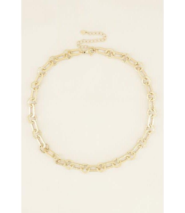 Ketting kleine ovale schakels MJ03972 - goud