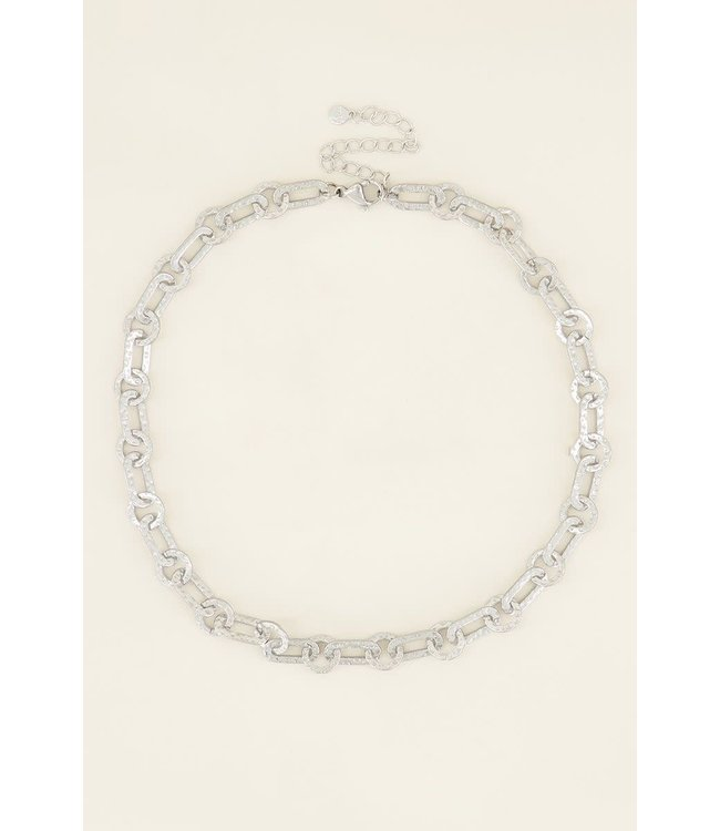 Ketting kleine ovale schakels MJ03972 - zilver