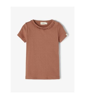 Lil Atelier NMFSAFRAN  T-shirt 13192180 - Carob Brown