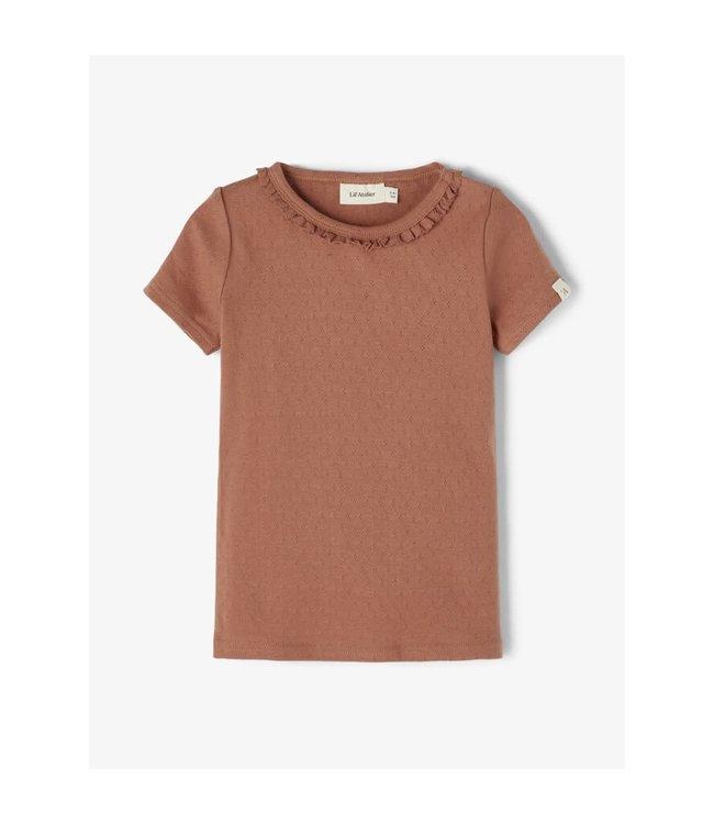 NMFSAFRAN  T-shirt 13192180 - Carob Brown