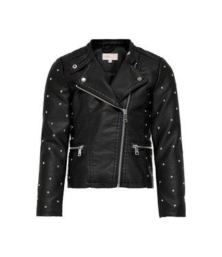 KIDS ONLY KONFREYA Studded biker jacket 15227632 Black