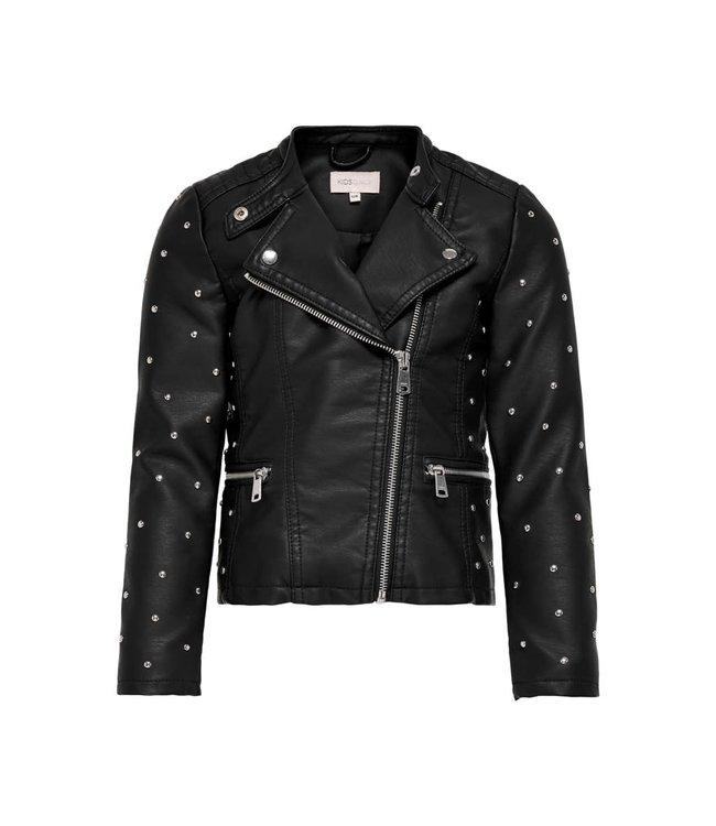 KONFREYA Studded biker jacket 15227632 Black