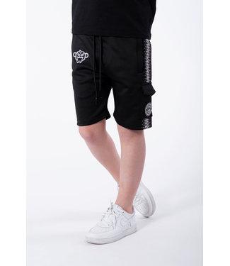 BLACK BANANAS Hexagon Short JRSS21/036 - Black/white