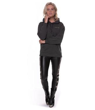 Colourful Rebel 9093 - Chloe PU Star Pants Women Black/Gold