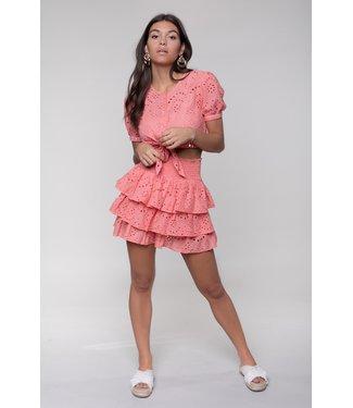 Colourful Rebel Nuna Broderie Skirt 10337 Pink