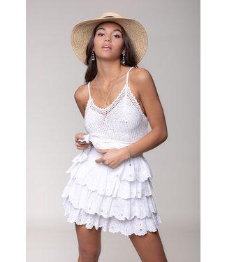 Colourful Rebel Nuna Broderie Skirt 10338 White