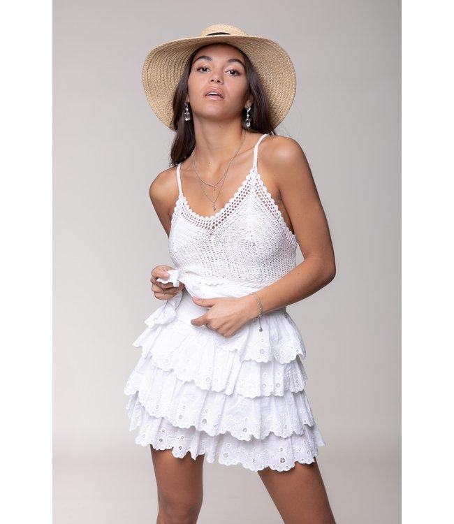 Nuna Broderie Skirt 10338 White