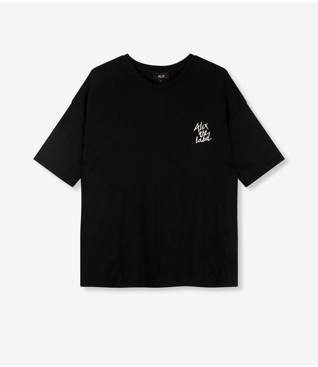 knitted summer sweat t-shirt black