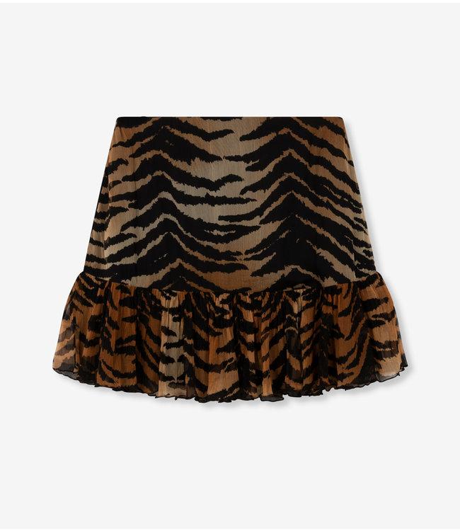 woven tiger crinkle chiffon skirt animal