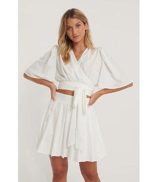NA-KD Wrap Blouse 006835 - white