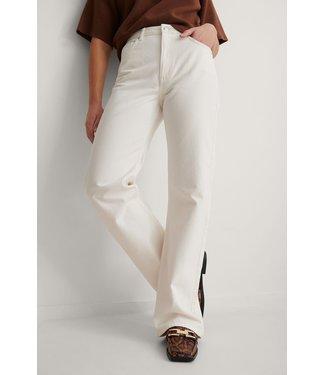 NA-KD Relaxed full length jeans 000208 - ecru