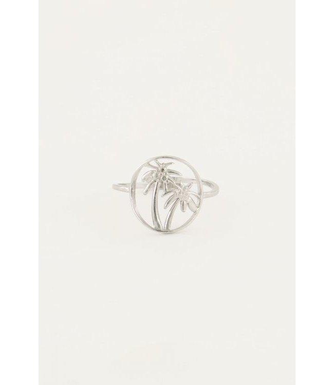 Ring twee palmbomen MJ050301500 Zilver