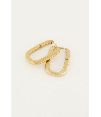 My Jewellery Oorbellen ovaal groot MJ046121200 Goud
