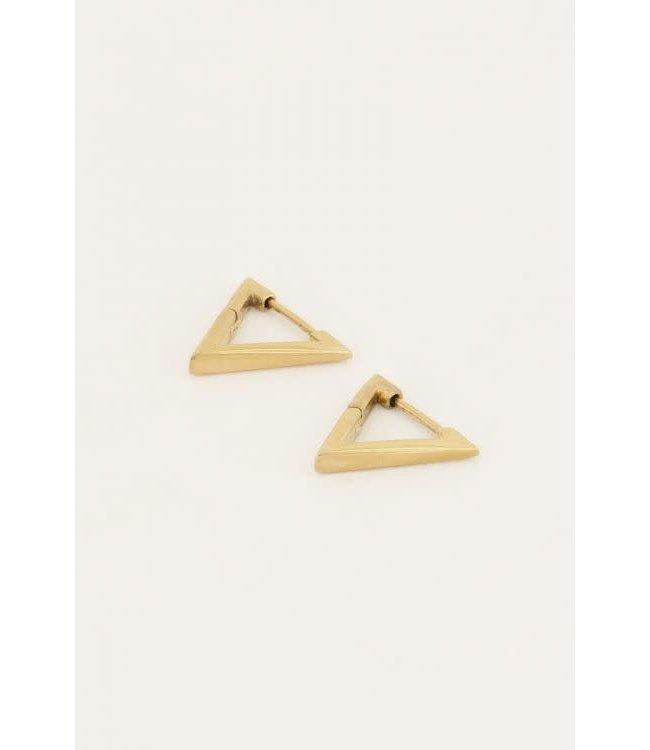 Oorbellen driehoek klein MJ046131200 Goud