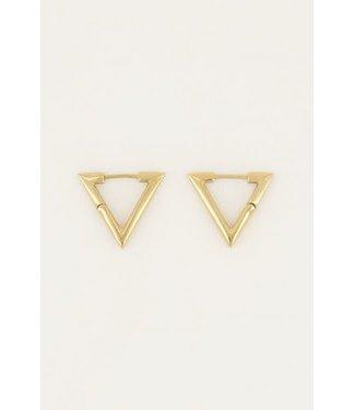 My Jewellery Oorbellen driehoek groot MJ046141200 Goud
