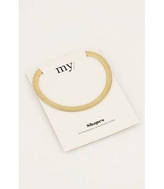 My Jewellery Ketting schakels plat MJ050511200 Goud